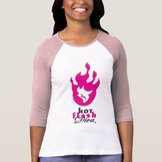 Logotipo de la llama de la diva del flash caliente remeras
