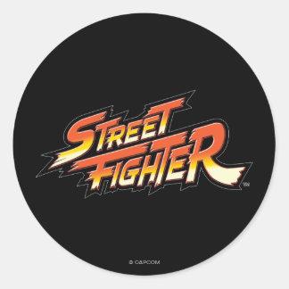 Logotipo de la marca de Street Fighter Pegatina Redonda