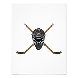 Logotipo de la máscara del hockey anuncios
