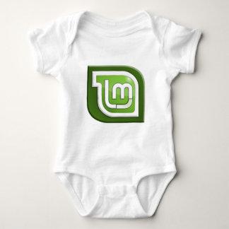 Logotipo de la menta de Linux Body Para Bebé