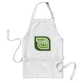 Logotipo de la menta de Linux Delantal