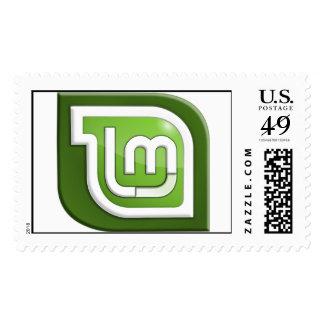 Logotipo de la menta de Linux Estampillas