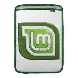 Logotipo de la menta de Linux Funda MacBook