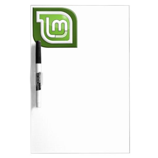Logotipo de la menta de Linux Pizarra Blanca