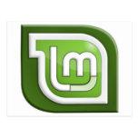 Logotipo de la menta de Linux Postal