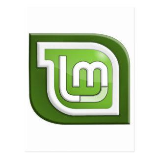 Logotipo de la menta de Linux Tarjetas Postales