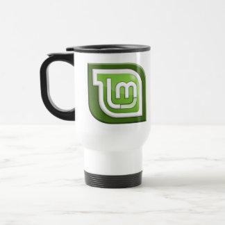 Logotipo de la menta de Linux Taza Térmica