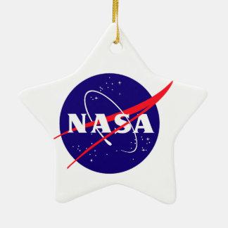 Logotipo de la misión de OSIRIS REx Adorno Navideño De Cerámica En Forma De Estrella