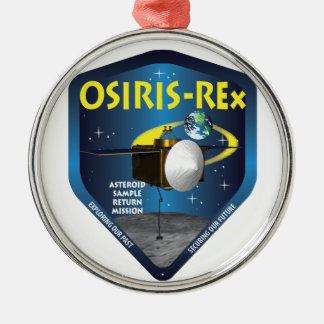 Logotipo de la misión de OSIRIS REx Adorno Navideño Redondo De Metal