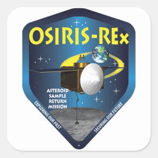 Logotipo de la misión de OSIRIS REx Pegatina Cuadrada