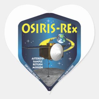 Logotipo de la misión de OSIRIS REx Pegatina En Forma De Corazón