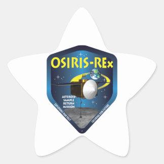 Logotipo de la misión de OSIRIS REx Pegatina En Forma De Estrella