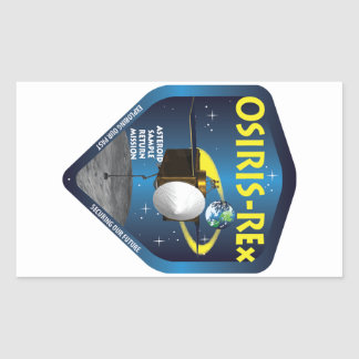 Logotipo de la misión de OSIRIS REx Pegatina Rectangular