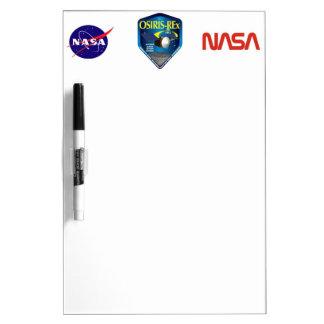 Logotipo de la misión de OSIRIS REx Pizarras Blancas De Calidad
