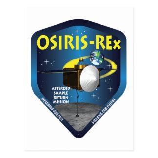 Logotipo de la misión de OSIRIS REx Postales