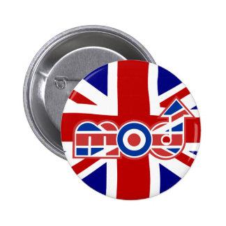 Logotipo de la MOD con el Union Jack Pin Redondo 5 Cm