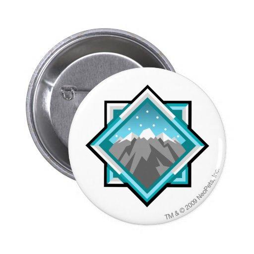 Logotipo de la montaña del terror del equipo pin