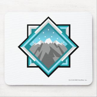 Logotipo de la montaña del terror del equipo tapetes de ratón