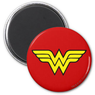 Logotipo de la Mujer Maravilla Imán Redondo 5 Cm