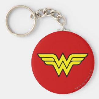 Logotipo de la Mujer Maravilla Llavero Redondo Tipo Pin