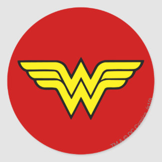 Logotipo de la Mujer Maravilla Pegatina Redonda