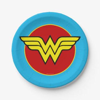 Logotipo de la Mujer Maravilla Plato De Papel De 7 Pulgadas