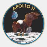 Logotipo de la NASA Apolo 11 Etiquetas Redondas