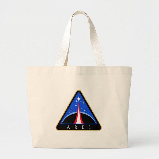 Logotipo de la NASA Ares Rocket Bolsa Lienzo