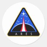 Logotipo de la NASA Ares Rocket Pegatinas