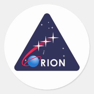 Logotipo de la NASA Orión Pegatina Redonda
