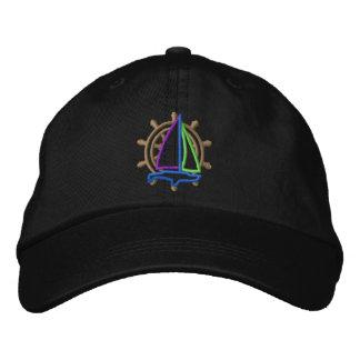 Logotipo de la navegación gorra bordada