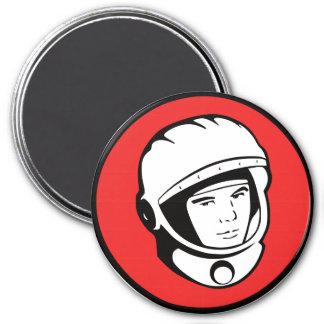 Logotipo de la noche de Yuri Gagarin para los Imán Redondo 7 Cm