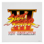 Logotipo de la nueva generación de Street Fighter  Poster