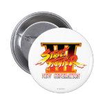 Logotipo de la nueva generación de Street Fighter  Pin Redondo De 2 Pulgadas