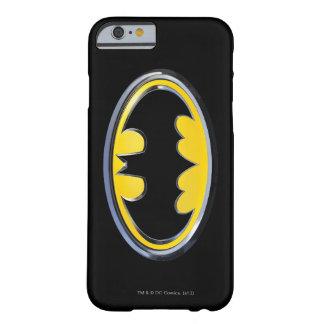 Logotipo de la obra clásica de Batman Funda De iPhone 6 Barely There