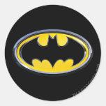 Logotipo de la obra clásica de Batman Etiquetas Redondas