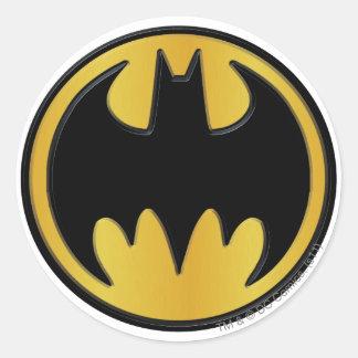 Logotipo de la obra clásica de Batman Pegatina Redonda