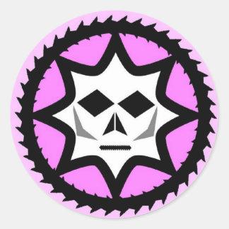 Logotipo de la obra clásica de Diabolichix Pegatina Redonda