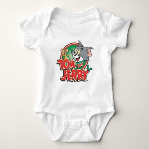 Logotipo de la obra clásica de Tom y Jerry Body Para Bebé