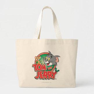 Logotipo de la obra clásica de Tom y Jerry Bolsa Tela Grande