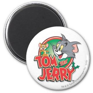 Logotipo de la obra clásica de Tom y Jerry Imán Redondo 5 Cm