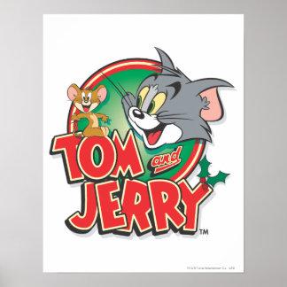 Logotipo de la obra clásica de Tom y Jerry Impresiones
