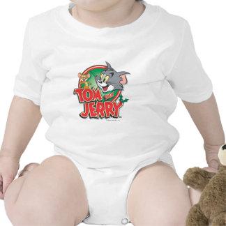 Logotipo de la obra clásica de Tom y Jerry Trajes De Bebé