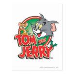 Logotipo de la obra clásica de Tom y Jerry Tarjetas Postales