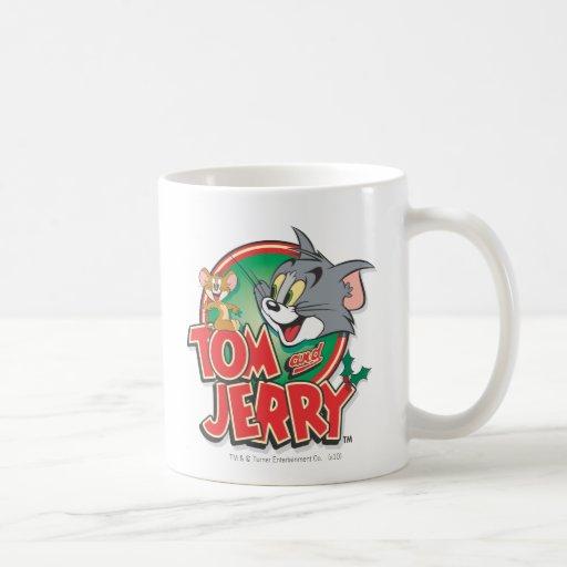 Logotipo de la obra clásica de Tom y Jerry Tazas De Café