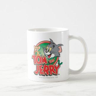 Logotipo de la obra clásica de Tom y Jerry Taza Básica Blanca