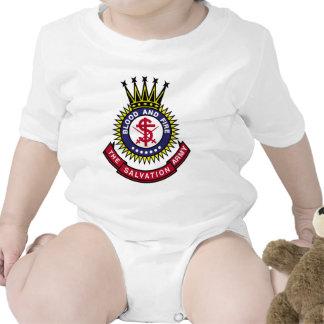 Logotipo de la obra clásica del Ejército de Salvam Trajes De Bebé