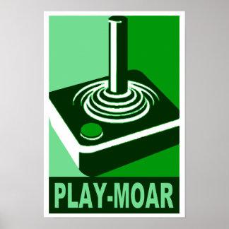 Logotipo de la obra clásica del Juego-Moar Póster