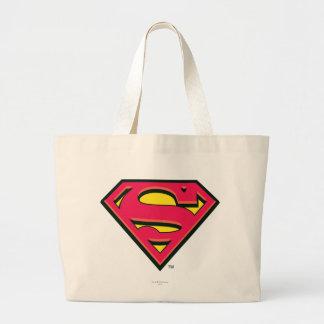 Logotipo de la obra clásica del superhombre bolsa tela grande
