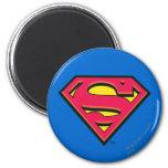 Logotipo de la obra clásica del superhombre imán de frigorífico